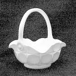 Westmoreland Milk Glass Ashburton 6 In Basket Vintage