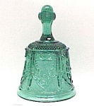Fenton Art Glass Bell Sables Arch Teal Royale Signed