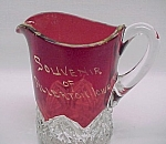 Eapg Glass Souvenir Ruby Flash Pitcher Allerton Iowa Ia