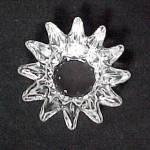 Sunburst Clear Glass Open Salt Dip Cellar Dish Vintage
