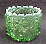 Eyewinker Green Opalescent Glass Salt Dip Or Toothpick