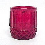 Ruby Red Glass Toothpick Holder Candle Votive Cup