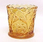 Kemple Glassworks Yutec Amber Glass Toothpick Holder Tg