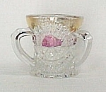 Us Glass 1908 Sunrise Rising Sun Toothpick Holder Rose