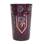 Victorian Hand Painted Enamel Drinking Glass Tumbler