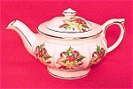 Christmas Holiday Holly China 1c Teapot W/ Gold England