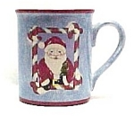 Elder Beerman Christmas Santa Claus Ceramic Mug Spoon