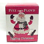 Fitz And Floyd Jiggling Christmas Santa Figurine New