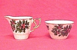 Christmas Holly Berries Creamer & Sugar Bowl Iridescent