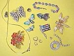 Junk Jewelry Pins Rhinestone Stones Marcasite Repair