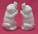 German White Porcelain Pig Salt & Pepper Shakers S&ps