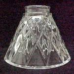 Clear Glass Bell 2 1/4 X 4 1/2 X 6 Light Lamp Shade Wall Sconce