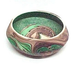 Seven Falls Colorado Pottery Swirled Flower Frog & Bowl