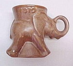 1979 Frankoma Pottery Gop Political Party Elephant Mug