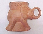 1980 Frankoma Pottery Gop Political Party Elephant Mug