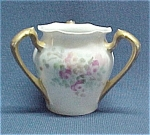 Rs R S Germany Tri Handle Hand Painted China Toothpick