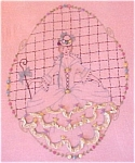 1940s Bedspread Coverlet Quilt Top Lady W/parasol Vntg