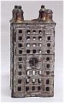 Antique Toy Cast Iron Sky Scraper Coin Bank Piggy Money