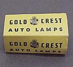 Vintage Gold Crest Auto Automobile Lamp Light Bulb 6-8v