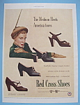 1949 Red Cross Shoes With Woman & Shoes
