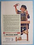 1931 Dutch Boy White Lead Paint W/dutch Boy On Ladder
