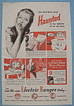 1938 National Electric Ranges W/frightened Woman's Face