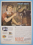 1943 Norge Household Appliances W/ Woman Working
