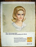 1965 Breck Shampoo With A Beautiful Blonde Haired Woman