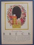 1956 Breck Shampoo W/bottles Of Shampoo & Creme Rinse