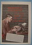 Vintage Ad: 1926 Woodstock Electrite Typewriter