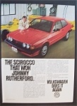 1981 Volkswagen Scirocco With Johnny Rutherford