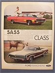 1971 Ford Ranchero Gt & Squire Ad