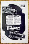 1928 4 Door Whippet Sedan
