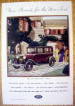 1930 Ford With New Ford Town Sedan