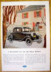 1931 Ford With The New Ford De Luxe Coupe