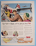 Vintage Ad: 1950 Trans World Airline