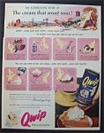 Vintage Ad: 1953 Qwip Dessert Topping