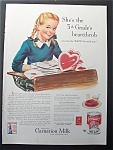 1943 Carnation Milk Girl & Bunch Of Valentines