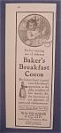 1916 Baker's Breakfast Cocoa
