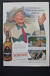 1951 Schenley Whiskey With Ezio Pinza