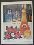 1956 Four Roses Antique Whiskey With 3 Jesters In Snow