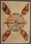 Vintage Ad:1946 Johnnie Walker Red/black Label Whiskey
