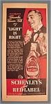 1939 Schenley's Light Red Label Whiskey W/man Talking