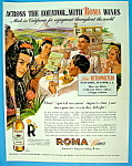Vintage Ad: 1944 Roma Wine