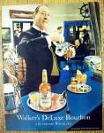 1967 Walker's Deluxe Bourbon W/butler Pouring Bourbon