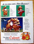 1942 Calvert Whiskey With Horace & Hazel Hippo