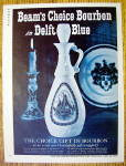1963 Beam's Choice Bourbon With Delft Blue Canister