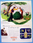 1946 Walker's Gin With Harvesters Spanking Bush