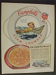 1952 Campbell's Clam Chowder Soup