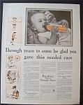 1931 Sunkist Orange Juice